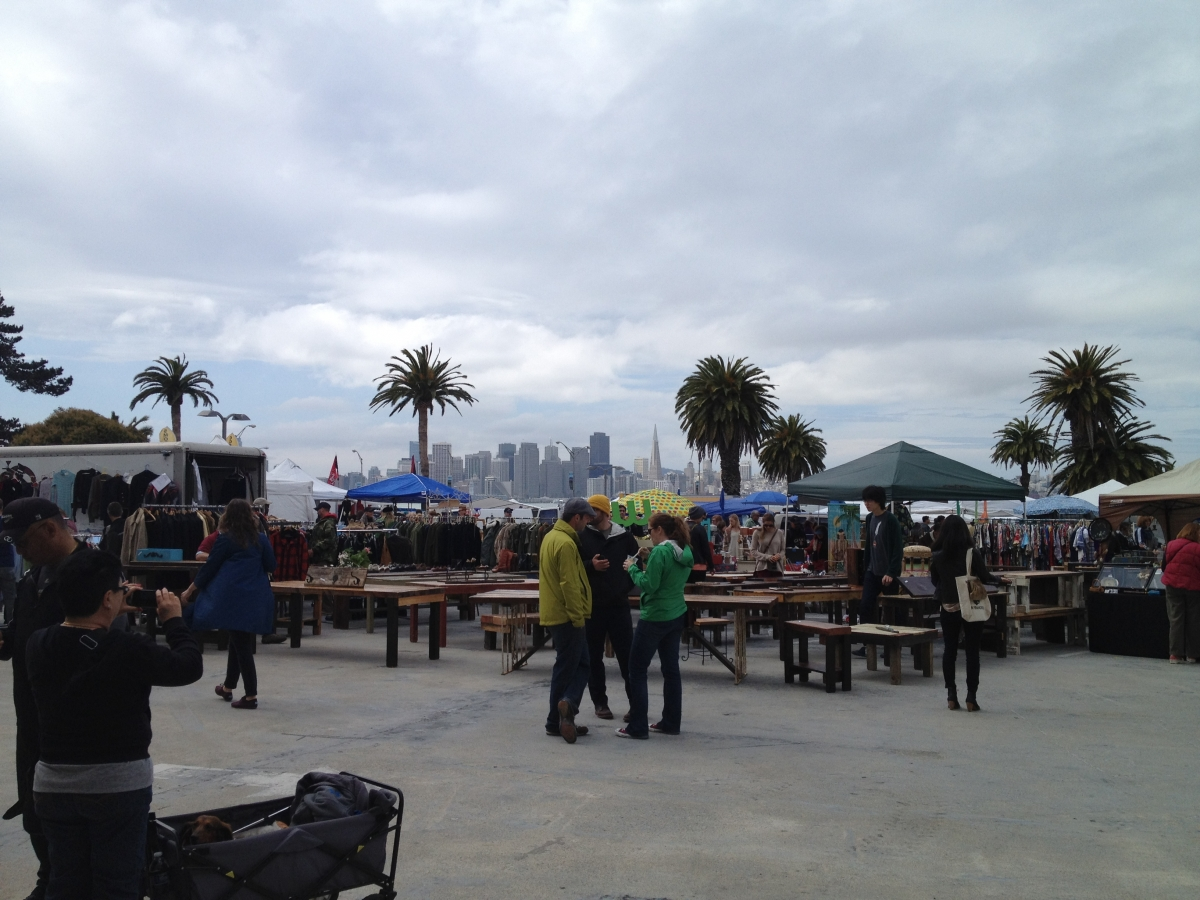 金銀島上的藝術家手工市集:Treasure Island Flea