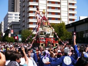 舊金山櫻花祭扛神轎