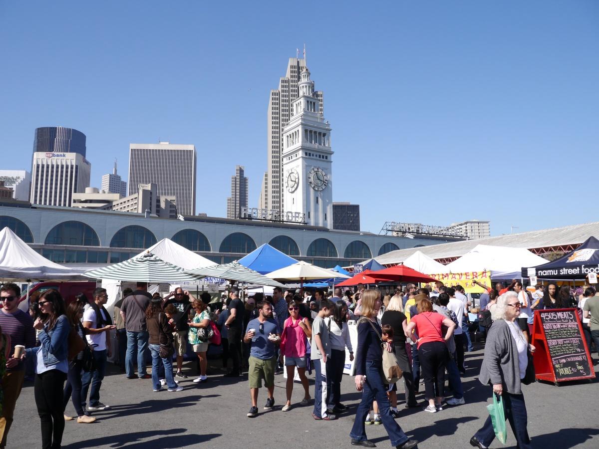 舊金山渡輪大廈:農夫市集這樣逛!Ferry Building Farmer's Market