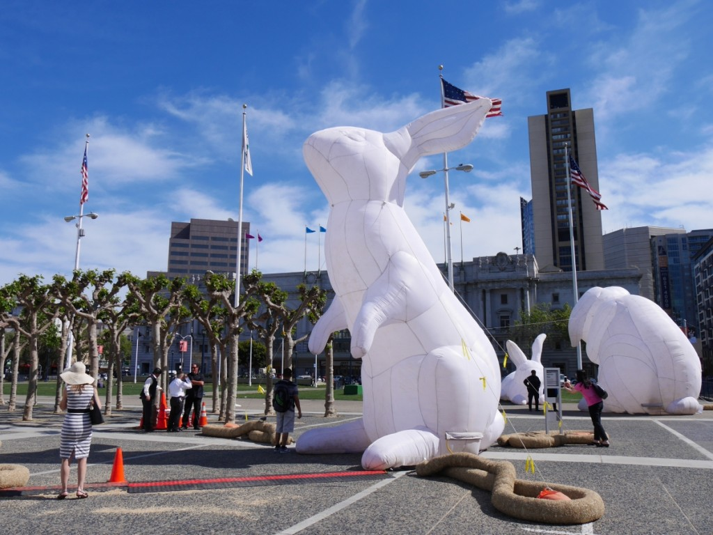 巨兔入侵!舊金山市政中心大型裝置藝術展